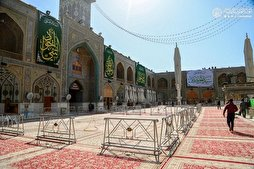 Imam Ali (AS) Mausoleum Decorated on Birthday of Imam Javad (AS)