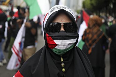 Protesters March to U Embassy in Jakarta, Demand End to Israeli Attacks on Palestine